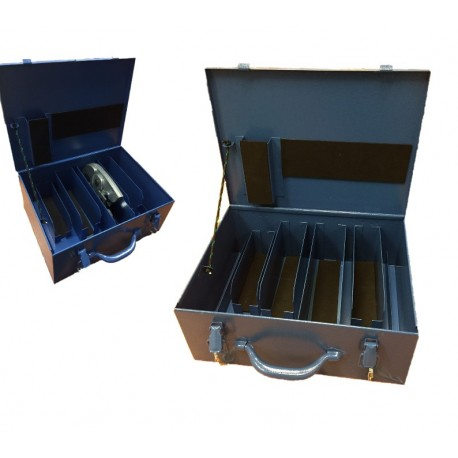Koffer blauw t.b.v. 4  persbekken